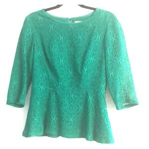 Anthropologie top green size 8